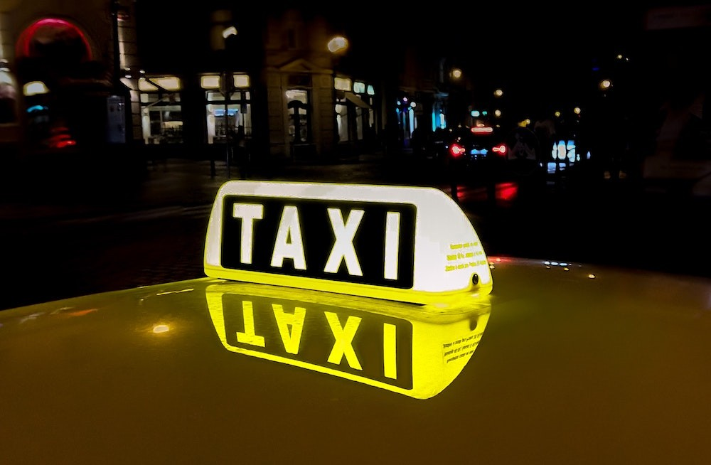 taxi signage