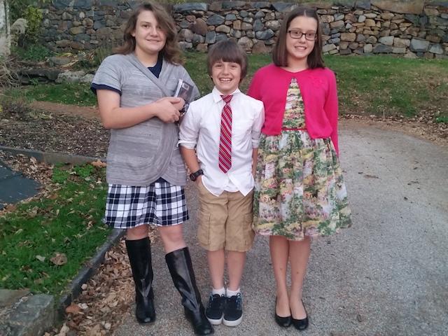 kiddos dressed up