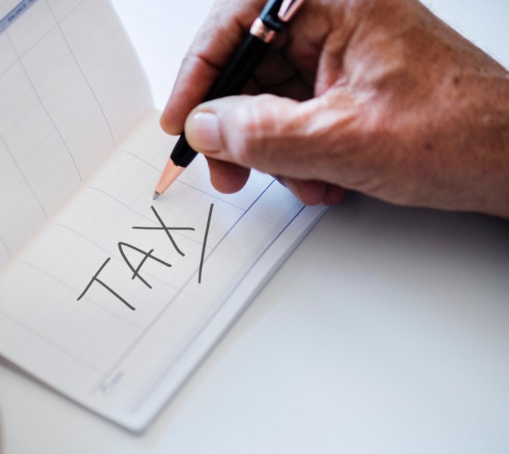 tax in checkbook